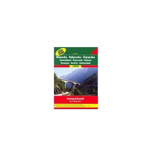 Niemcy Austria Szwajcaria atlas 1:300 000 Freytag & Berndt (2012)