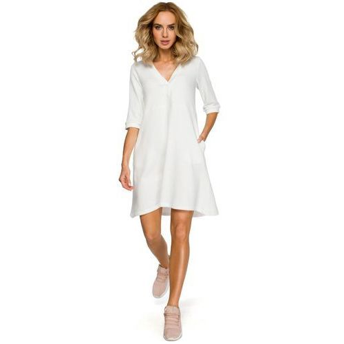 a61c922c02 Made of Emotion damska sukienka M403 M biały