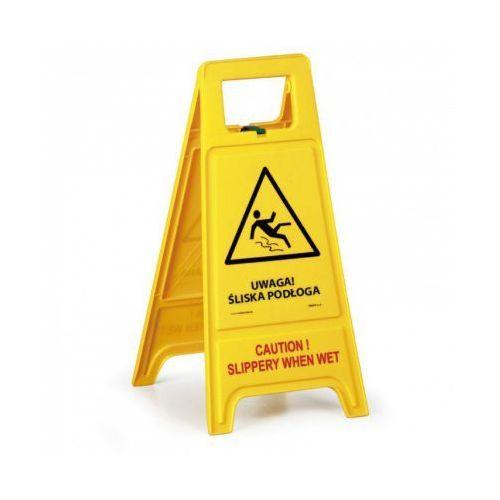 Stojak ostrzegawczy - Uwaga Śliska podłoga PL