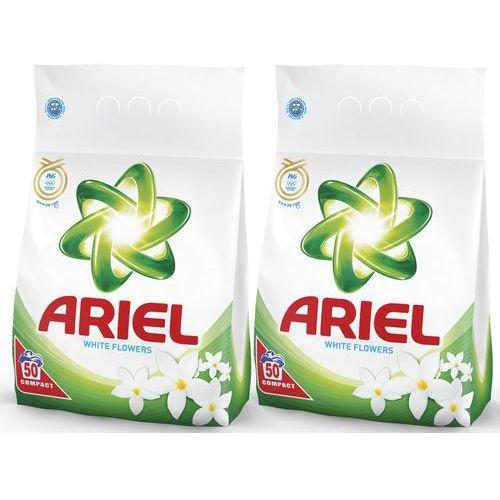 Ariel Zestaw 2 proszków do prania White Flower 3,5 kg - 50 prań, 2szt. (proszek do prania ubrań)