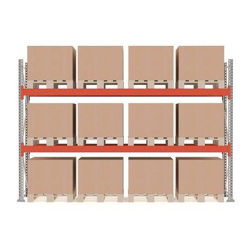 Regał paletowy ultimate, moduł podstawowy, 2500x3600x1100 mm, 12 palet marki Aj produkty