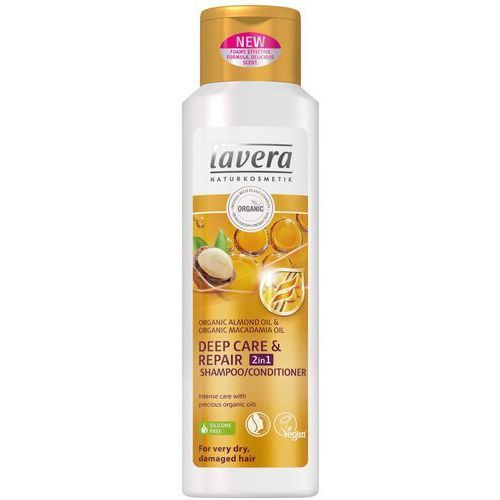 Lavera Szampon odżywczo-regeneracyjny 2w1 do włosów zniszczonych 250ml (4021457619764)