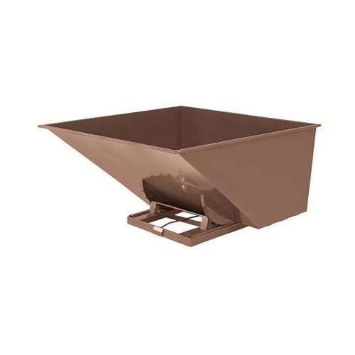 Brązowy kontener - wywrotka o pojemności 2500 l marki Aj