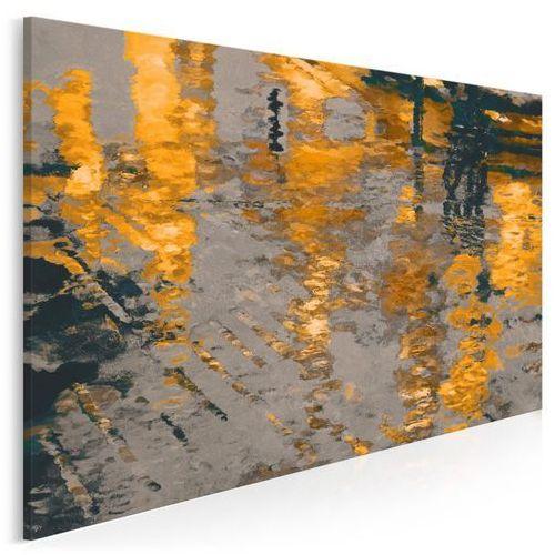 Vaku-dsgn Odbicie słonecznego miasta - nowoczesny obraz na płótnie - 120x80 cm