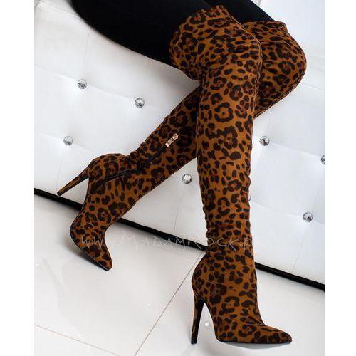 Kozaki na szpilce Lady Folle leopard, 1155 B8990 LEOPARD