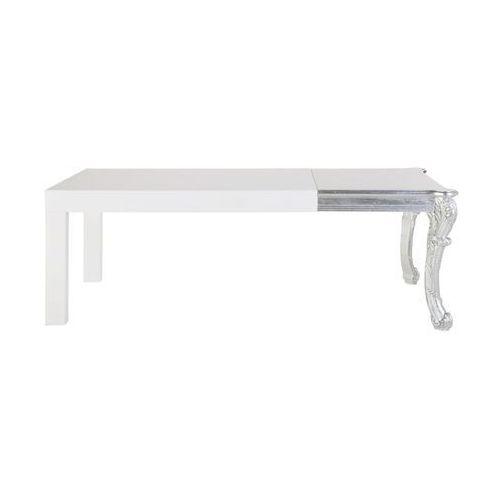 Kare Design Janus Srebrno Biały Stół Lakierowany na Wysoki Połysk 220x90 cm - 75262 - produkt dostępny w sfmeble.pl
