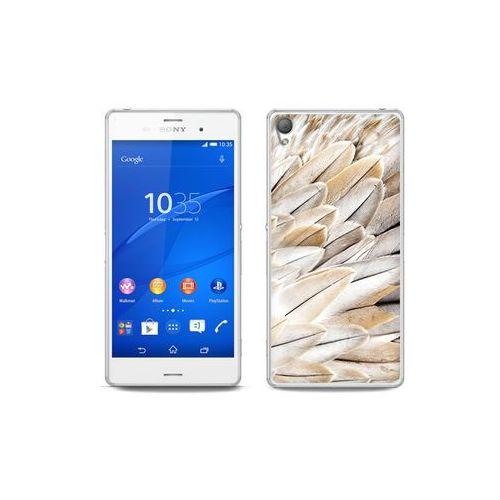 etuo Foto Case - Sony Xperia Z3 - etui na telefon Foto Case - białe pióra, kolor biały