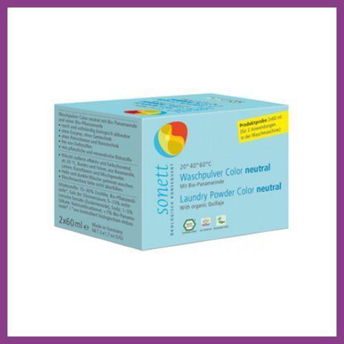 SONETT Próbka - Proszek do prania KOLOR NEUTRAL 2 x 60 ml (proszek do prania ubrań)