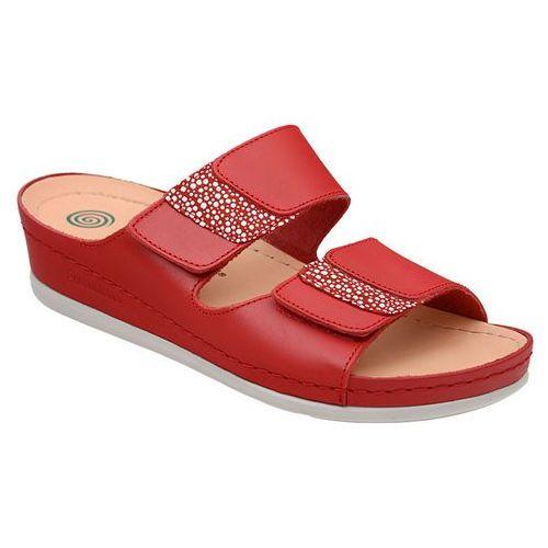 Buty klapki 701040-4 czerwone - czerwony, Dr brinkmann