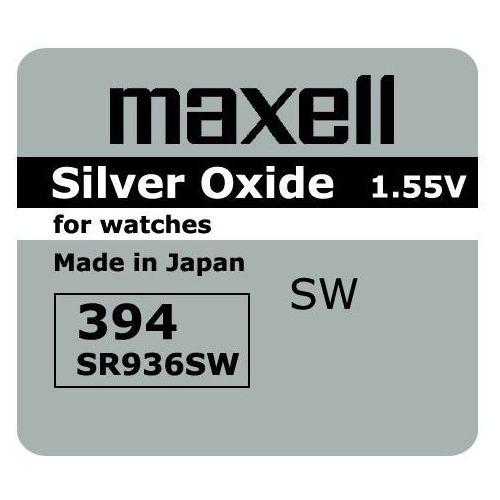 bateria srebrowa mini Maxell 394 / 380 / SR 936 SW / G9 (4902580132408)