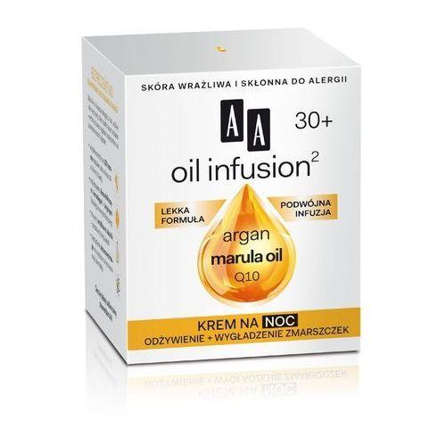 AA Cosmetics Oil Infusion2 Argan Marula 30+ krem odżywczy na noc o działaniu przeciwzmarszczkowym Koenzym Q10(Light Formula, Double Infusion) 50 ml