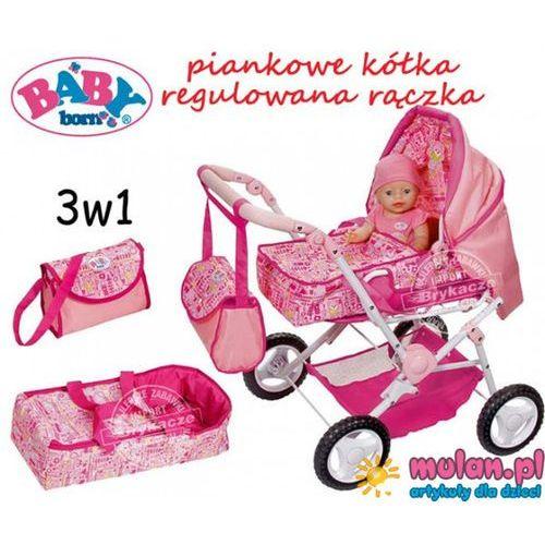 Baby Born Wózek Głęboki Nosidełko Regulowana Spacerówka 3w1 ciche piankowe kółka Zapf Creation 819654 - oferta [05e46e2075d504e8]
