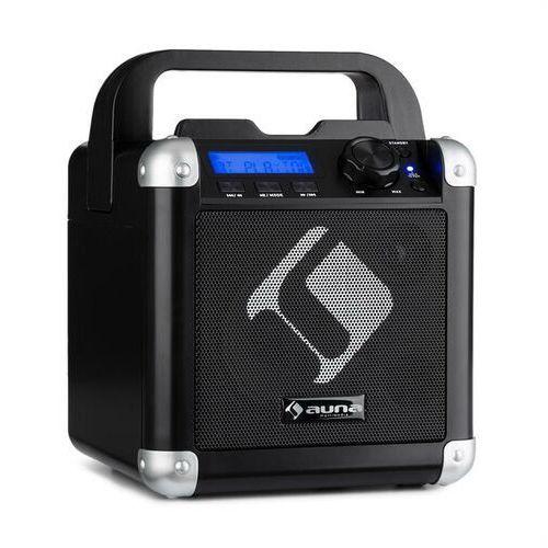 Auna BC-1 zestaw karaoke Bluetooth baterie rączka USB AUX-In czarny