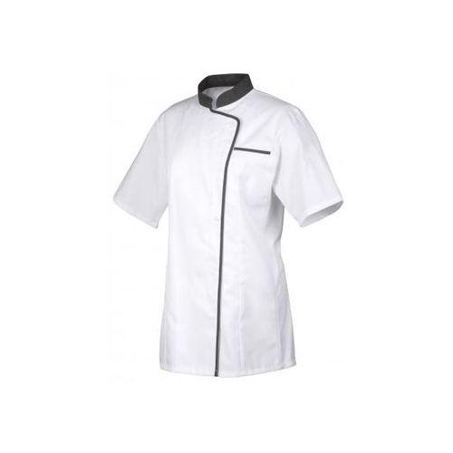 Robur Bluza kucharska vintage biało-czerwona długi rękaw s