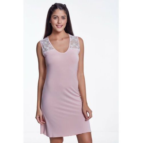 Bambusowa koszula nocna damska JULIE XL Różowy, kolor różowy