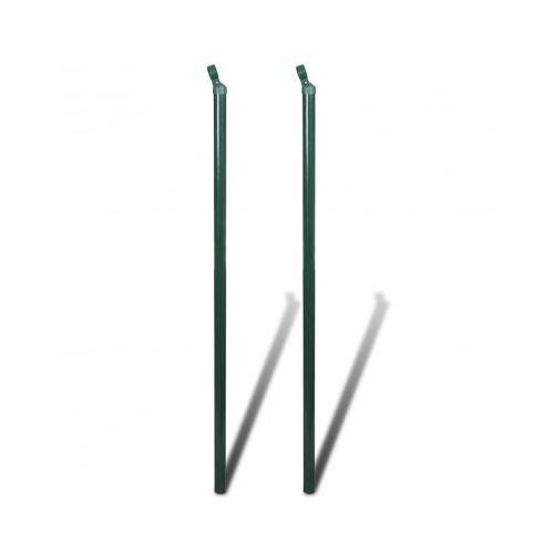 Słupki podporowe ogrodzenia 2 szt 200cm ze sklepu VidaXL
