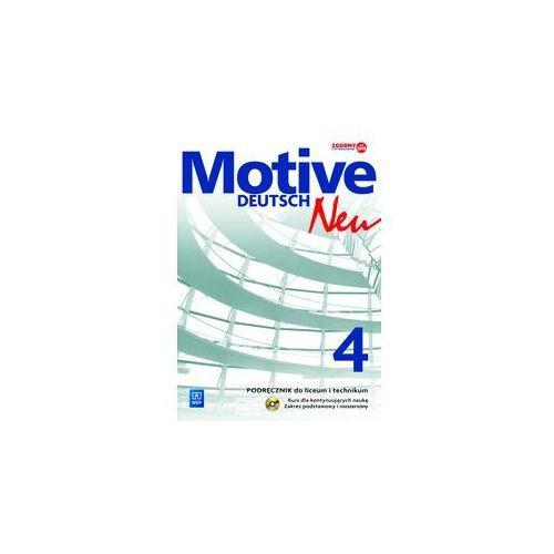 Motive – Deutsch Neu 4 LO. Podręcznik z ćwiczeniami. Zakres podstawowy i rozszerzony. Kurs dla kontynuujących naukę (2015), oprawa miękka