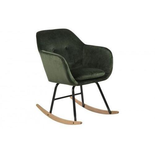 Fotel bujany Emilia VIC ciemny zielony, kolor zielony