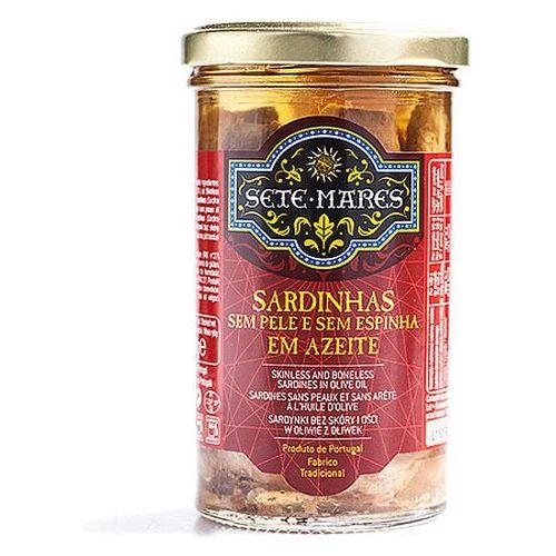Sardynki bez skóry i ości w oliwie z oliwek 250g Sete Mares