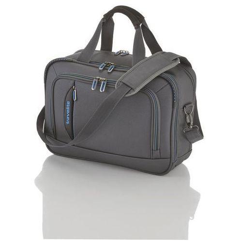 crosslite torba na ramię z miejscem na laptopa 21l anthrazit - szary marki Travelite