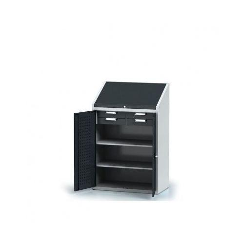 Alfa 3 Szafa warsztatowa z nadstawką - 2 półki, 4 szuflady