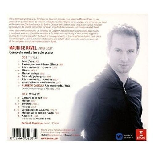 Warner music Ravel: piano works - bertrand chamayou (płyta cd) (0825646026814)