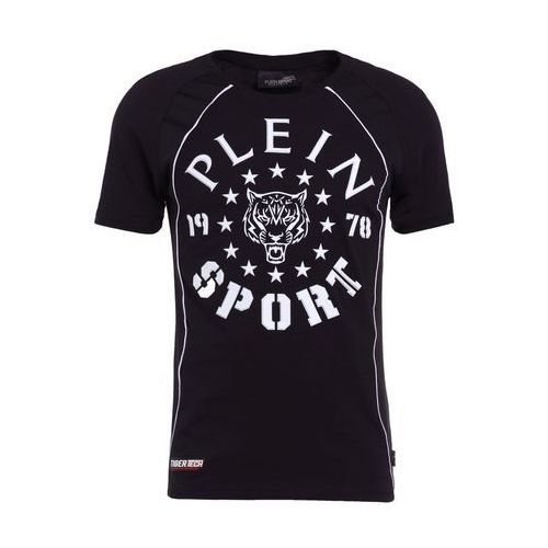 Plein Sport ROUND NECK LIONEL Tshirt z nadrukiem black/white, P18C MTK2090 SJY001N