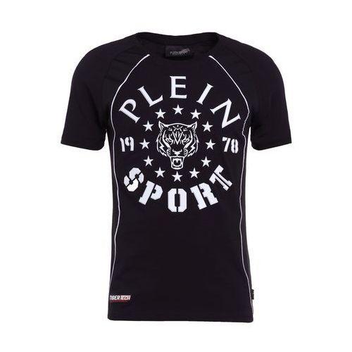 Plein Sport ROUND NECK LIONEL Tshirt z nadrukiem black/white