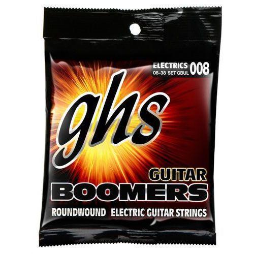 Ghs guitar boomers struny do gitary elektrycznej, ultra light,.008-.038