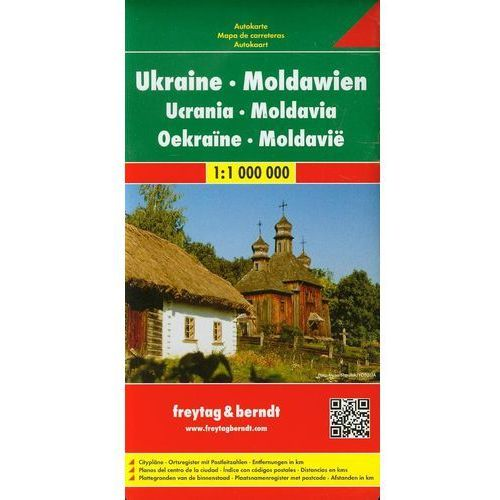 Ukraina Mołdawia Mapa Drogowa 1:1 000 000 (2013)