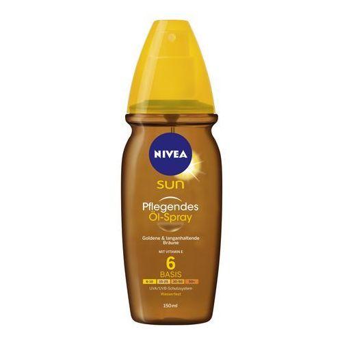 Nivea sun sun olejek ochronny do opalania w sprayu spf 6 (vitamin e) 200 ml (9005800261683)
