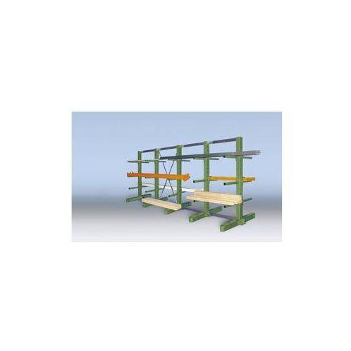 Kompletny regał wspornikowy, wersja superciężka,wys. stojaka 2100 mm, dwustronna