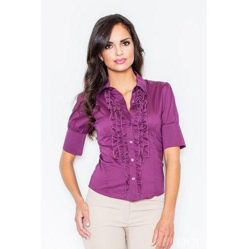 e674643b4020c9 Elegancka koszula z falbankami w kolorze bakłażanu, Figl, 36-46 87,90 zł  Material: bawelna 80 % nylon 17 % lycra 3 %.Dostepne wymiary: S (36), M  (38), ...