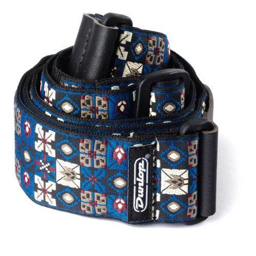 Dunlop jacquard strap - winterland blue, pasek gitarowy