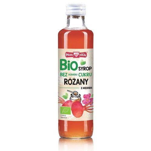 Polska róża Bio syrop malinowy z miodem bez dodatku cukru 250ml (5902768174779)