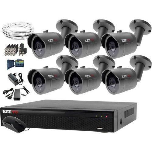 Monitoring domu jednorodzinnego zestaw Rejestrator LV-XVR84N-II 6x Kamera LV-AL30HT akcesoria, ZM7333