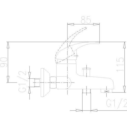 KFA NEFRYT 504-010-00 - produkt z kat. baterie wannowe