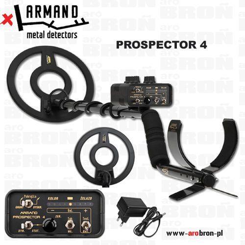 Wykrywacz metali Armand Prospector 4 - NOWOŚĆ - zasilanie akumulatorowe, z latarką LED - przeznaczony do militariów i monet. ze sklepu www.arobron.pl