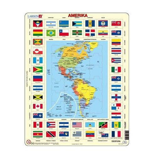 Puzzle maxi - mapa ameriky + vlajky/70 dílků marki Neuveden