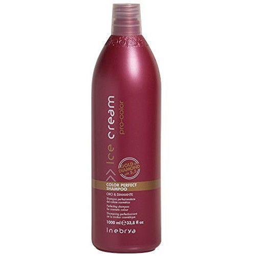 ice cream pro-color szampon do włosów farbowanych (perfecting shampoo for cosmetic colour, gold & diamond ph 5,5) 300 ml marki Inebrya