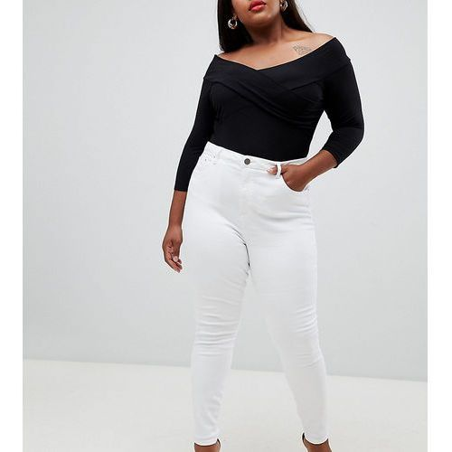 Asos design curve ridley high waist skinny jeans in white - white, Asos curve