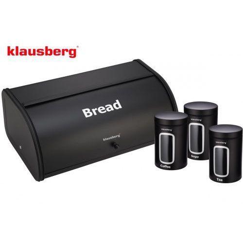 Klausberg Chlebak w zestawie z 3 pojemnikami [kb-7098-bk]