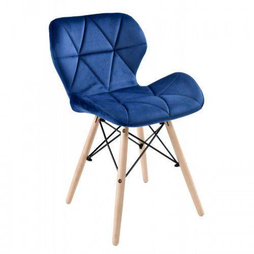 Krzesło axel velvet aksamit granatowe marki Krzeslaihokery