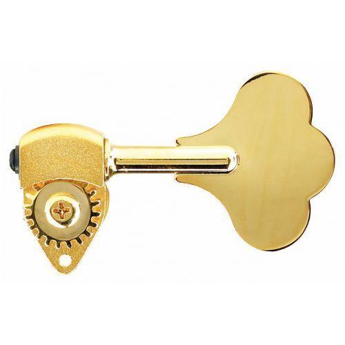 hb6 - ultralite bass machine heads, 1/2 in. post, clover leaf key, bass side ″ złoty klucz gitarowy marki Hipshot