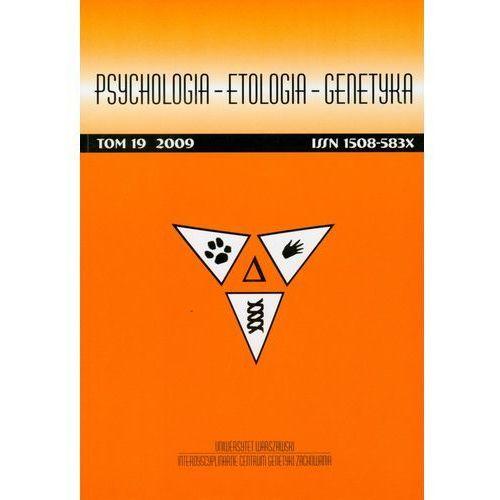 Psychologia etologia genetyka Tom 13/2006 - Praca zbiorowa