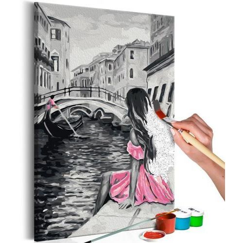 Obraz do samodzielnego malowania - wenecja (dziewczyna w różowej sukience) marki Artgeist