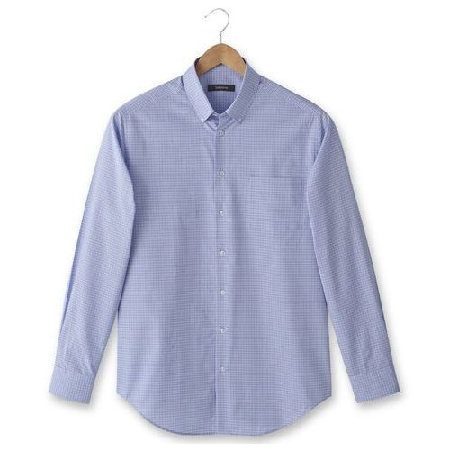 Popelinowa koszula z długim rękawem; rozmiar 2