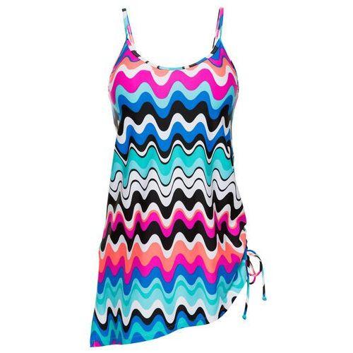 Sukienka kąpielowa bonprix różowo-niebieski z nadrukiem, w 7 rozmiarach