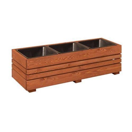 Werth-holz Donica ogrodowa gotegorb 41 x 32 x 109 cm drewniana prostokątna (5902860166672)