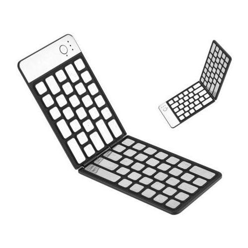 Mini klawiatura składana bluetooth slim bezprzewodowa czarna marki 4kom.pl